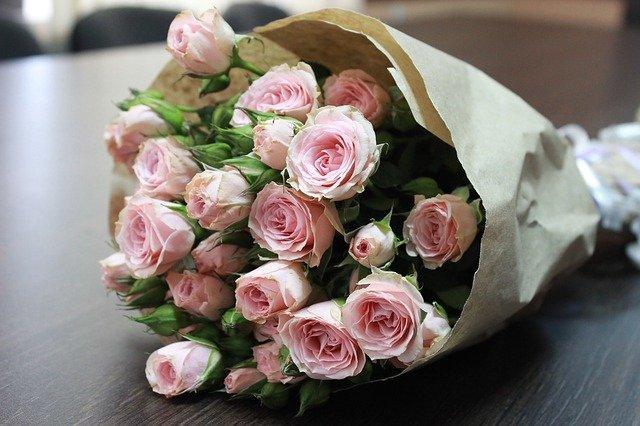 zabalené růže