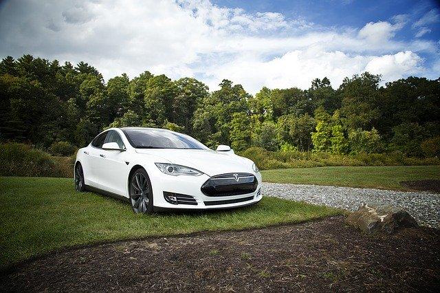 elektrické auto na trávníku.jpg