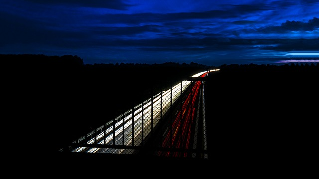 dálnice noční