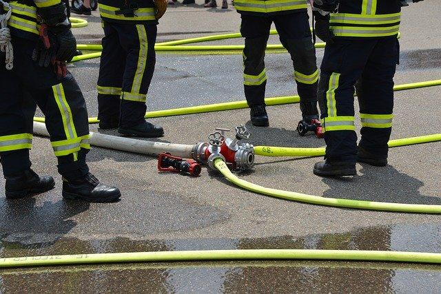 hadice hasičů