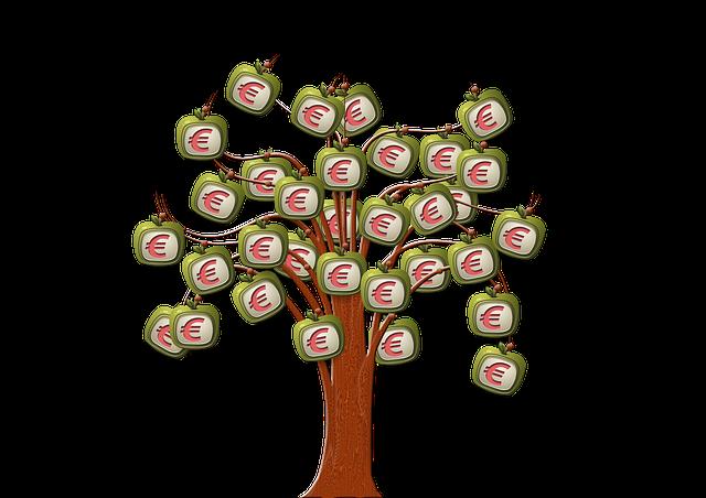 strom, symboly eura